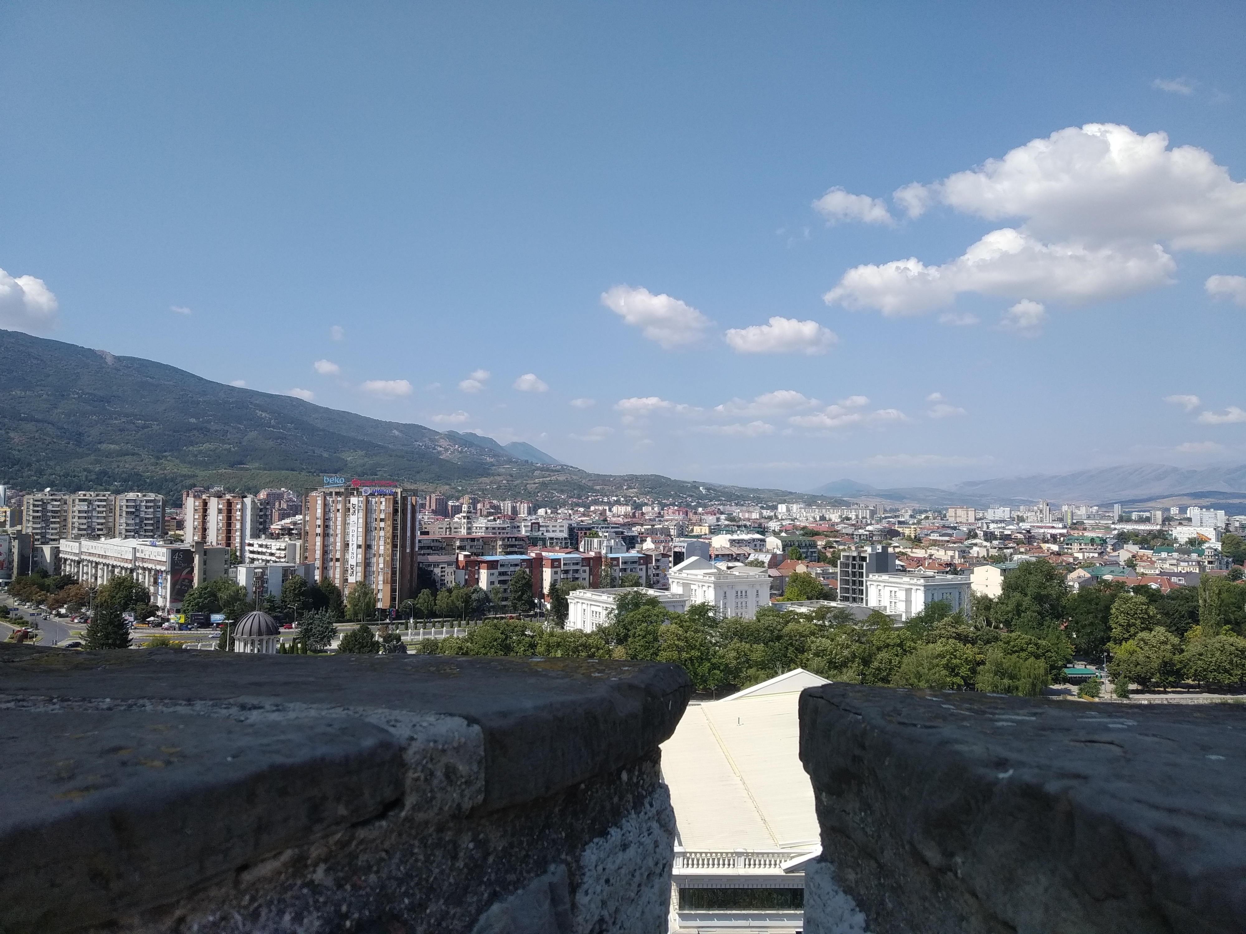 Skopje from the fortress