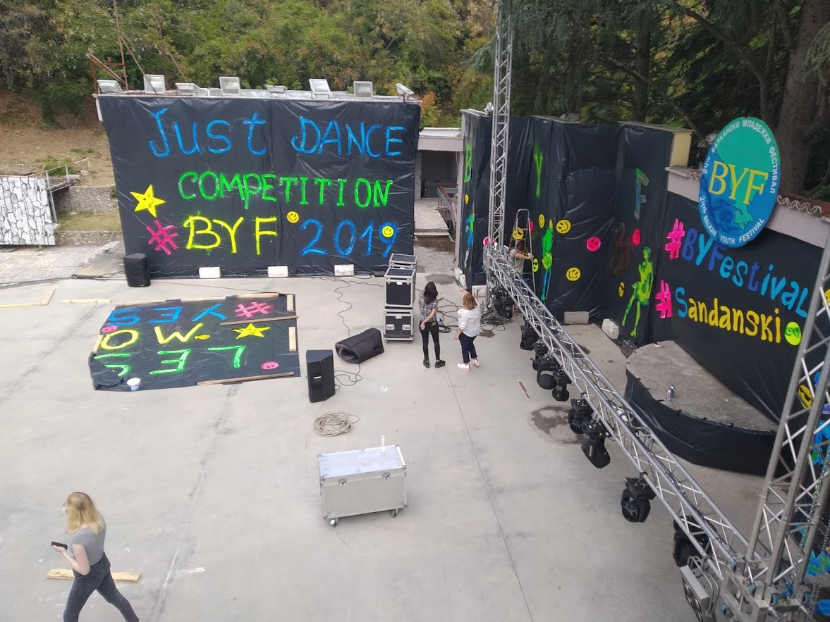 Preparation of the stage